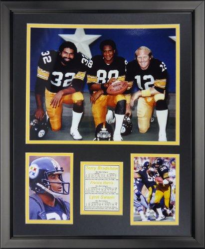 Legends Never Die Pittsburgh Steelers 1970's Big 3 Kneeling Framed Photo Collage, 16