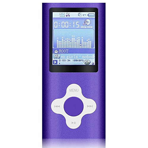 G.G.Martinsen Violet-with-White Versatile MP3/MP4 Player with a Micro SD Card