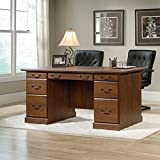 (US) Sauder Orchard Hills Executive Desk in Milled Cherry
