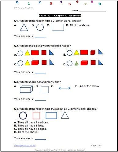2nd Grade Math Workbook (Printed B&W Plasti-coil bound) (125 ...