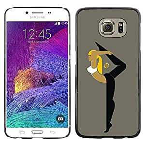 Paccase / SLIM PC / Aliminium Casa Carcasa Funda Case Cover para - Flexible Woman - Samsung Galaxy S6 SM-G920