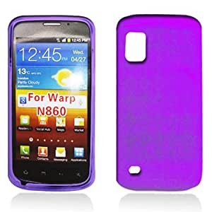 For Boost Mobil ZTE Warp Accessory - Purple Agryle Soft TPU Case Protector Cover + Free Lfstyluspen