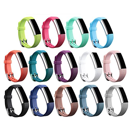 Newest Replacement Wristband With Watch Buckle Design for Fitbit Alta HR and Alta (No Tracker) (14Pcs Buckle Bands)