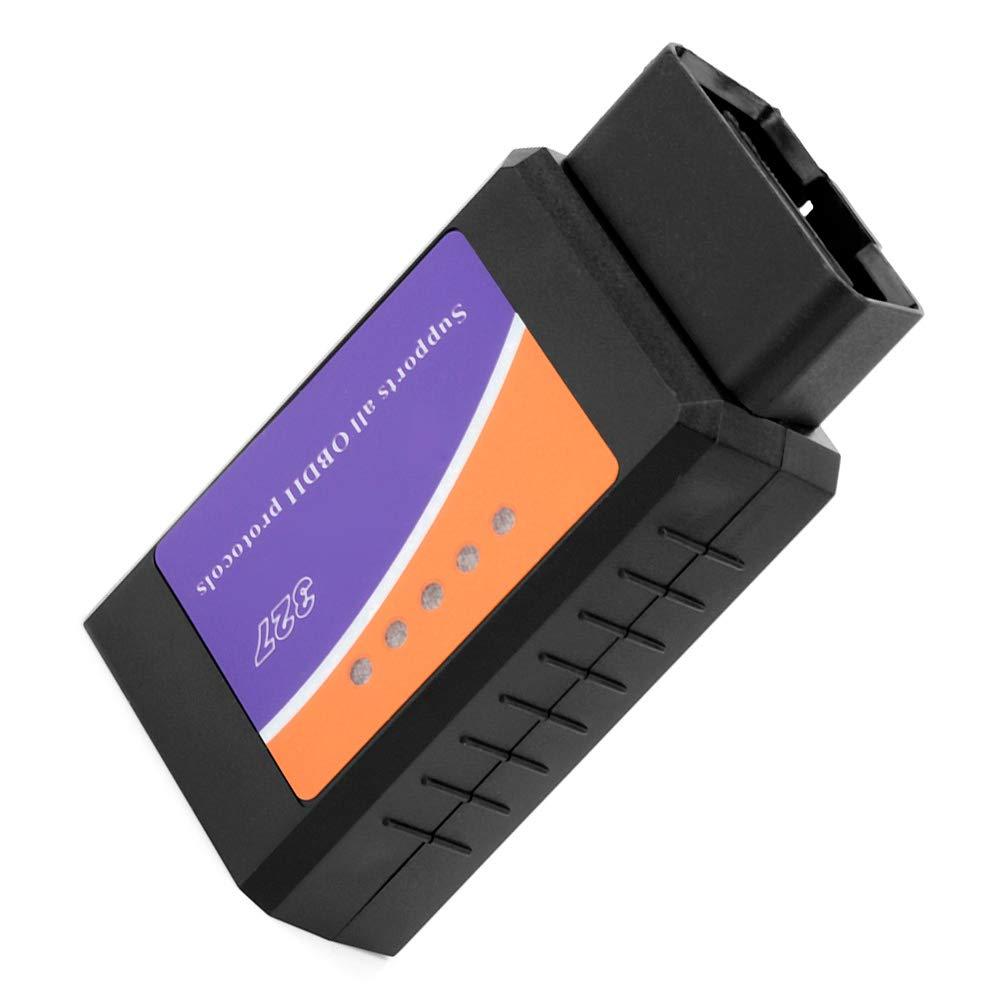Scanner OBD2;Strumento di scansione diagnostica per auto mini scanner C03 OBD2 V2.1 12V compatibile con Bluetooth