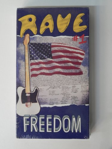 Rave #1 - Freedom VHS (Featuring: James Brown, Elvis Presley, Little Richard, Prince, Jerry Lee Lewis, Elton John, Ike & Tina Turner, the Rolling Stones, Janis Joplin, the Beatles, Jimi Hendrix, Free, Rod Stewart & the Faces, Richie Havens)