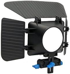 Morros DSLR Shoulder Mount Rig Stabilizer Support System + Follow Focus + Matte Box + Adjust Platform+ C Shape Support Cage +Top Handle for All DSLR Cameras and Video Camcorders