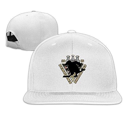 [LINNA Custom Unisex Pittsburgh Champlons 2016 Hockey Logo Snapback Baseball CapHat White] (Hockey Stanley Cup Costume)