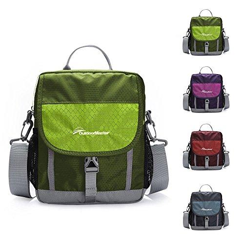 OutdoorMaster Shoulder Bag - Small & Light Crossbody Travel Purse for Men & Women (Army Green)