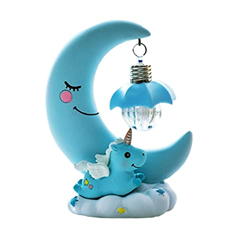 Lámpara de escritorio creativa, lámpara Unicorn Star, dormitorio ...