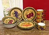 Tuscany Mixed Fruit 16 Piece Dinnerware Set
