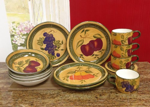 Tuscany Mixed Fruit 16 Piece Dinnerware