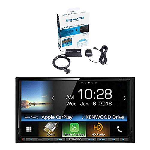 Kenwood DDX9703S 2-DIN in-Dash DVD/CD/AM/FM Car Stereo Receiver with Sirius SXV300v1 Vehicle Satellite Radio Tuner