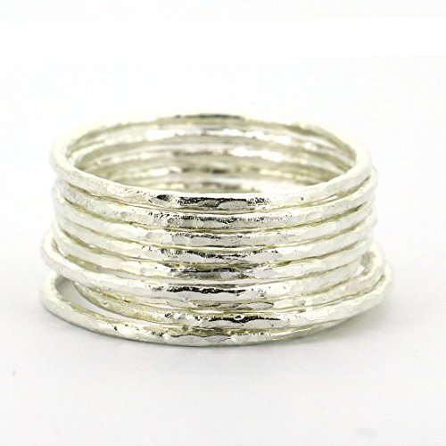 Lotsale 9pieces 925sterling Silver Hammered product image