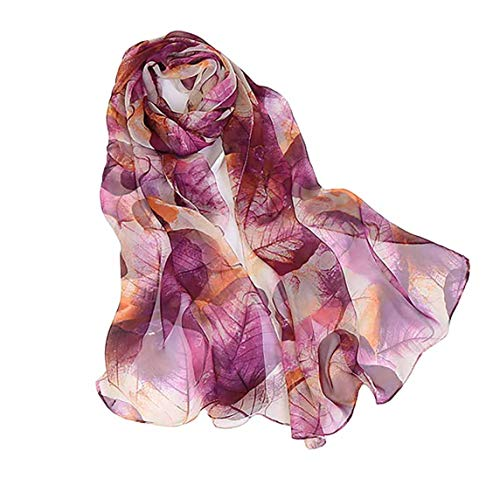 Print Silk Feeling Scarf Fashion...