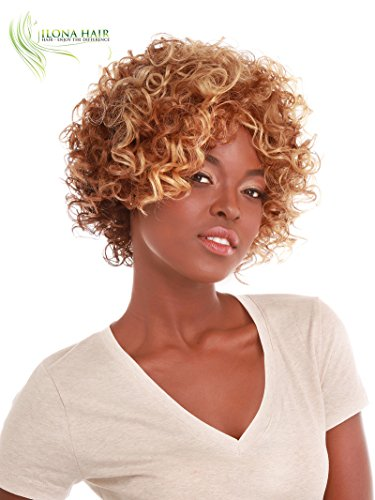 Search : Short Curly Wig for Black Woman Blonde Brown Ombre BEGA Afro Style Wig African-American Hair Collection (DX4338)