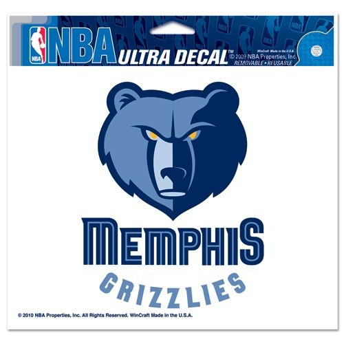 "NBA Memphis Grizzlies Ultra Decal, 5""x6"", Team Color"