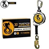 quick connector locking clips - KwikSafety (Charlotte, NC) 20' COBRA Self Retracting Lifeline | Cable | ANSI Class B SRL w/Steel Carabiner Locking Clip Snap Hook | Roofing Construction Personal Fall Arrest Protection Safety Yoyo