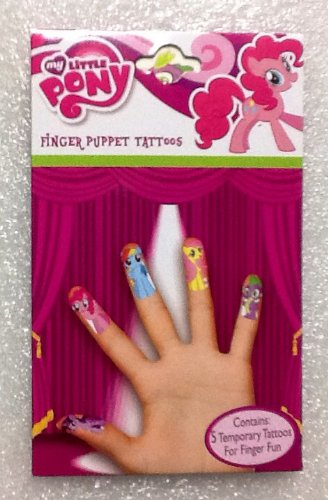Finger Puppet or Battle - Temporary Tattoos! Choose Your Style From 5 Themes- My Little Pony, Batman, Lalaloopsy, Superman, & Starwars! (My Little Pony) -  Added Extras, LLC, CYO713