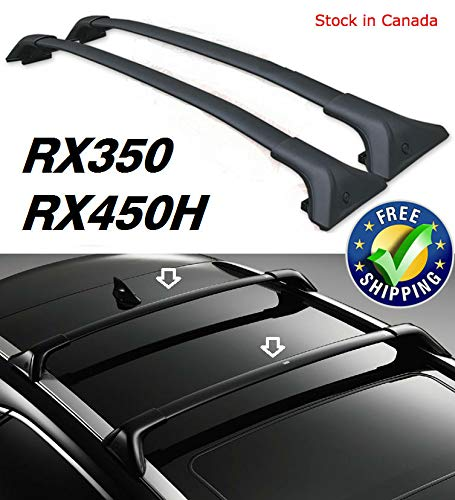 Roof rack CROSSBARs FOR LEXUS 2016 2017 2018 Lexus RX350 RX450H with factory flush Side Rails - Black