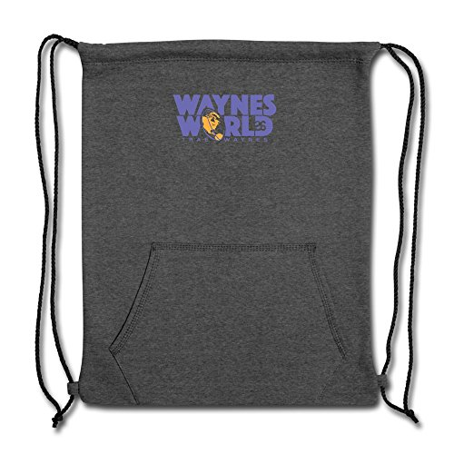 ATHLETE ORIGINALS Sweatshirt Cinch Bag by Trae Waynes Waynes World by Trae Waynes in Blue & White & Yellow (Digital Print) One size Deep Heather
