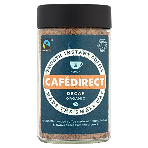 Cafédirect Fairtrade Organic Decaffeinated Instant Coffee (100g) - Pack of 6 by Cafédirect