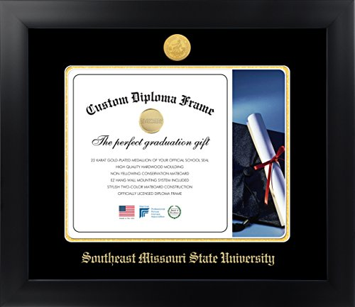 Southeast Missouri State University 11 x 14 Matte Black Finish Infinity Diploma Frame by Celebration Frames