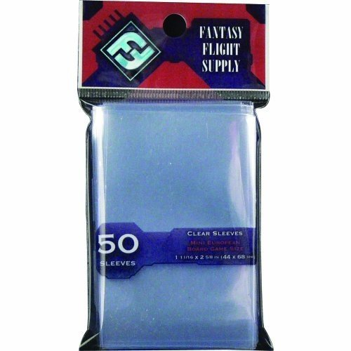(Fantasy Flight Supply: Clear Sleeves - Mini European Board Game Pack (50 Sleeves))