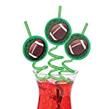 Football Straws/Crazy Straws/Party Supplies/Football party/Tailgating
