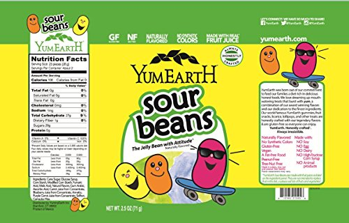 YumEarth Natural Sour Jelly Beans (Pack of 12)