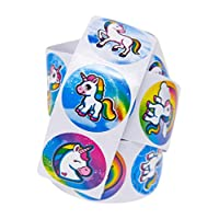 100 Unicorn Stickers: Roll of One Hundred (100) Stickers With Various Unicorn Designs - Easy To Peel & Remove - Great Addition To Unicorn Theme Birthday Party Favors, Supplies & Goody Bags