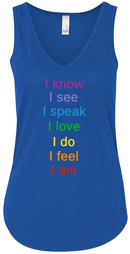 Yoga Clothing For You Ladies Chakra Words Flowy Tank Top 8805-CHAKWORDS
