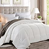 Maevis King Quilted Down Alternative Comforter All Season - Hotel Collection Luxury Soft Warm Fluffy Hypoallergenic Reversible Duvet Insert with Corner Tab White,90 by 102 Inches