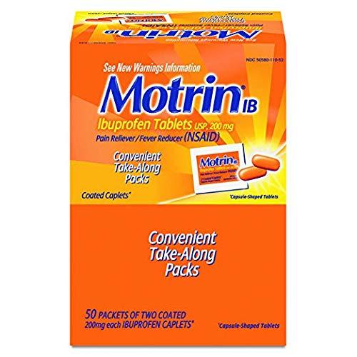 (Motrin IB, Unit Dose Box of 100 (50/2's) Caplets )