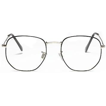e661203690 Oversized Round Eyewear for Ladies Men Flat Clear Lens Block Blue Light  Metal Frame  Amazon.co.uk  Health   Personal Care