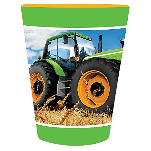 Creative Converting 318063 Tractor Time Plastic Favor Cup