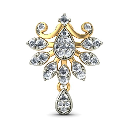 Or jaune 18 K 1.73 CT TW White-diamond (IJ | SI) Pendants d'oreilles
