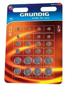 Grundig Made For You - Pack de pilas de botón (24 unidades)