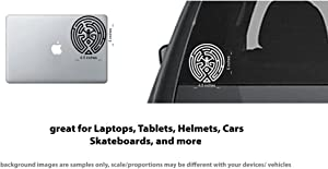 4x Westworld Maze style 1 Vinyl Decal Sticker Laptop, Tablet, Truck Window #60468 - White