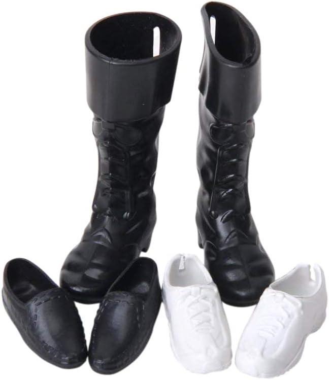 Zapatos de la muñeca cúspide zapatillas de deporte de los altos cargadores Accesorios regalo de los niños de Navidad del cumpleaños para los hombres KEN Barbie Juguetes 3 pares
