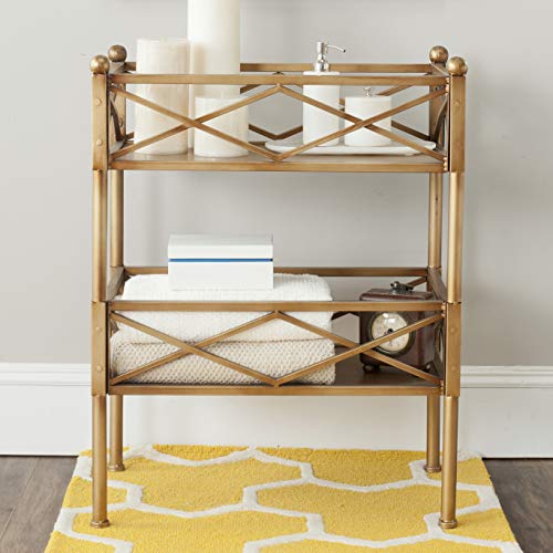 Safavieh American Home Collection James Storage Shelves, Gold