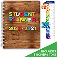 """Elementary Student Planner 2020-2021 (Block Style - 8.5""""x11"""" - Wood Letters) - SC20-"""