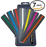 Reading Guide Highlighter Strips (Colored Overlays / Tinted Overlays) Set of 7 Colors with Storage Case (InPrimeTime Exclusive)