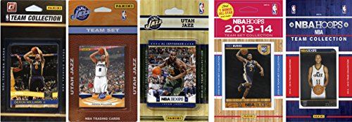 NBA Utah Jazz 5 Different Licensed Trading Card Team Sets, Brown, One Size by C&I Collectables