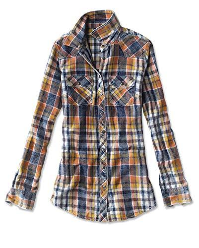 Orvis Women's Washed Indigo Plaid Shirt