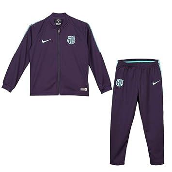 793cb91a Nike 2018-2019 Barcelona Little Boys Tracksuit (Purple) - Kids ...