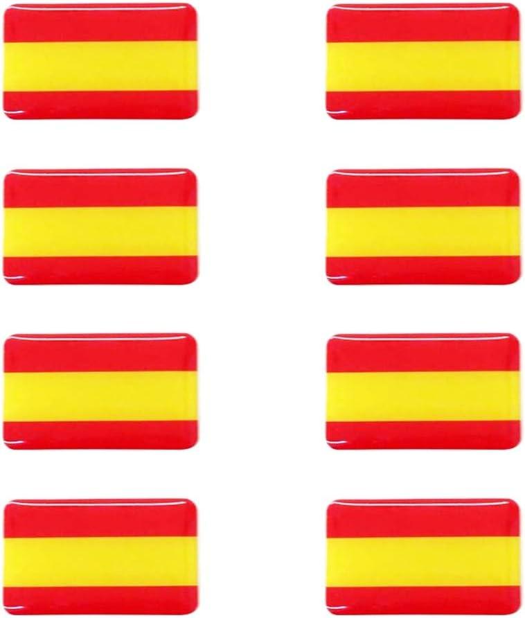 Dhabmin Pegatina Bandera de España 8 Unidades 30 x 20 mm/ud Gota ...