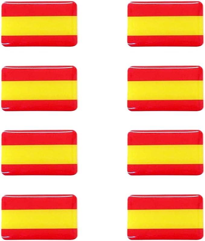 Dhabmin Pegatina Bandera de España 8 Unidades 30 x 20 mm/ud Gota De Resina: Amazon.es: Hogar