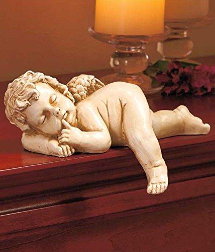 SLEEPING CHERUB Figurine Home Decor Shelf Sculpture Mantel AngelStatue (Ceramic Cherub)