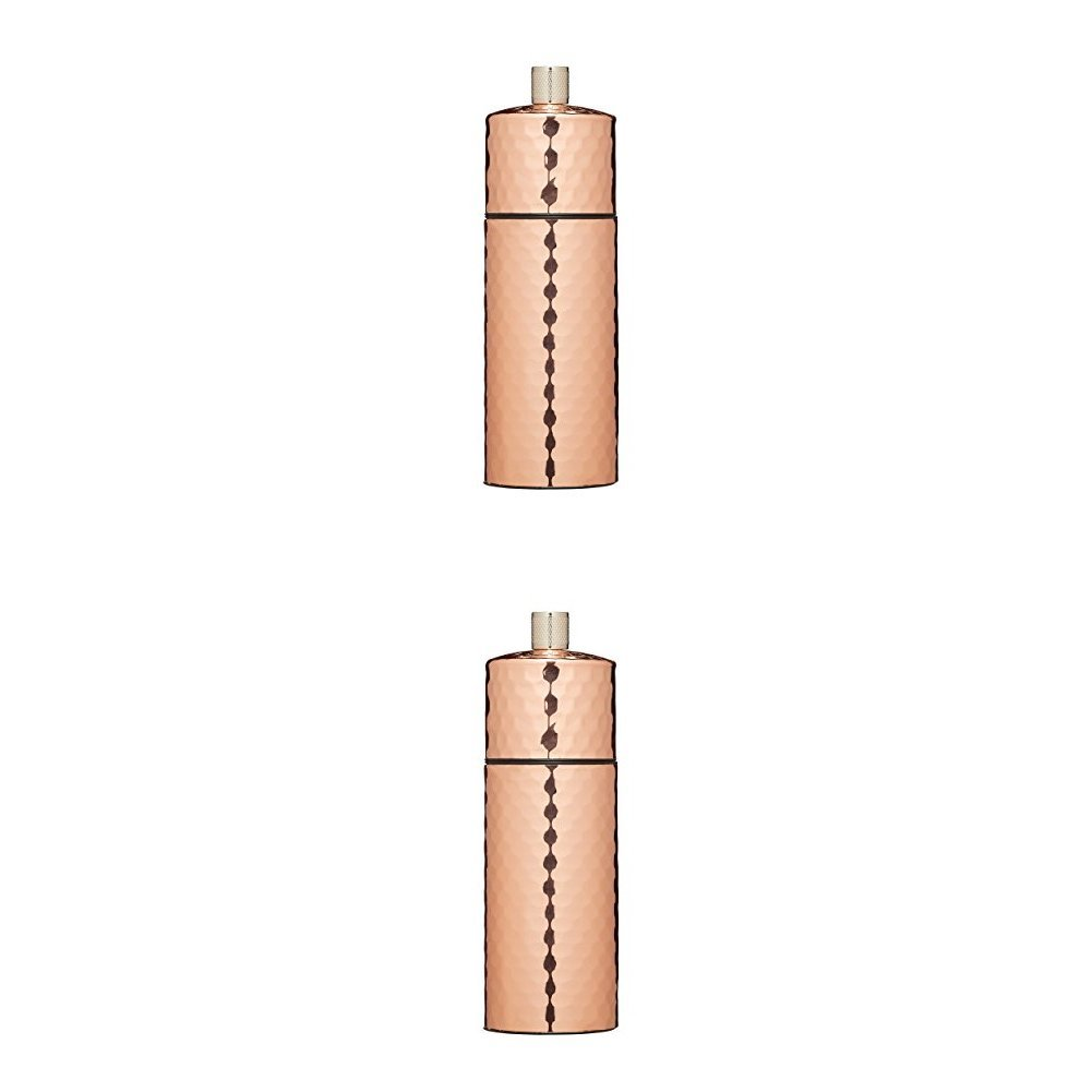 KitchenCraft MasterClass Hammered Copper-Effect Salt and Pepper Mill, Copper, 15 cm