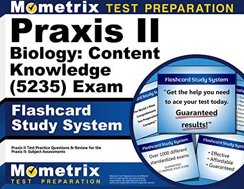 Praxis II Biology: Content Knowledge (5235) Exam Flashcard Study System: Praxis II Test Practice Questions & Review for the Praxis II: Subject Assessments (Cards) (Praxis 2 Biology Content Knowledge Study Guide)